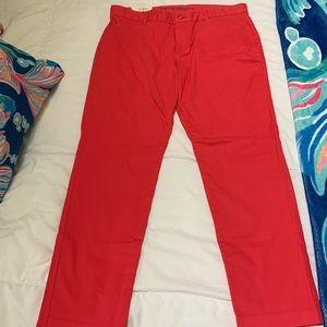 Gap Slim Fit Pants - NWT - Nantucket Red